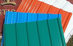 Chapas impermeáveis ASA-PVC